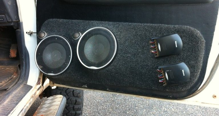 Car Door Speakers Size