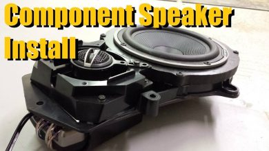 how to install component speakers in car