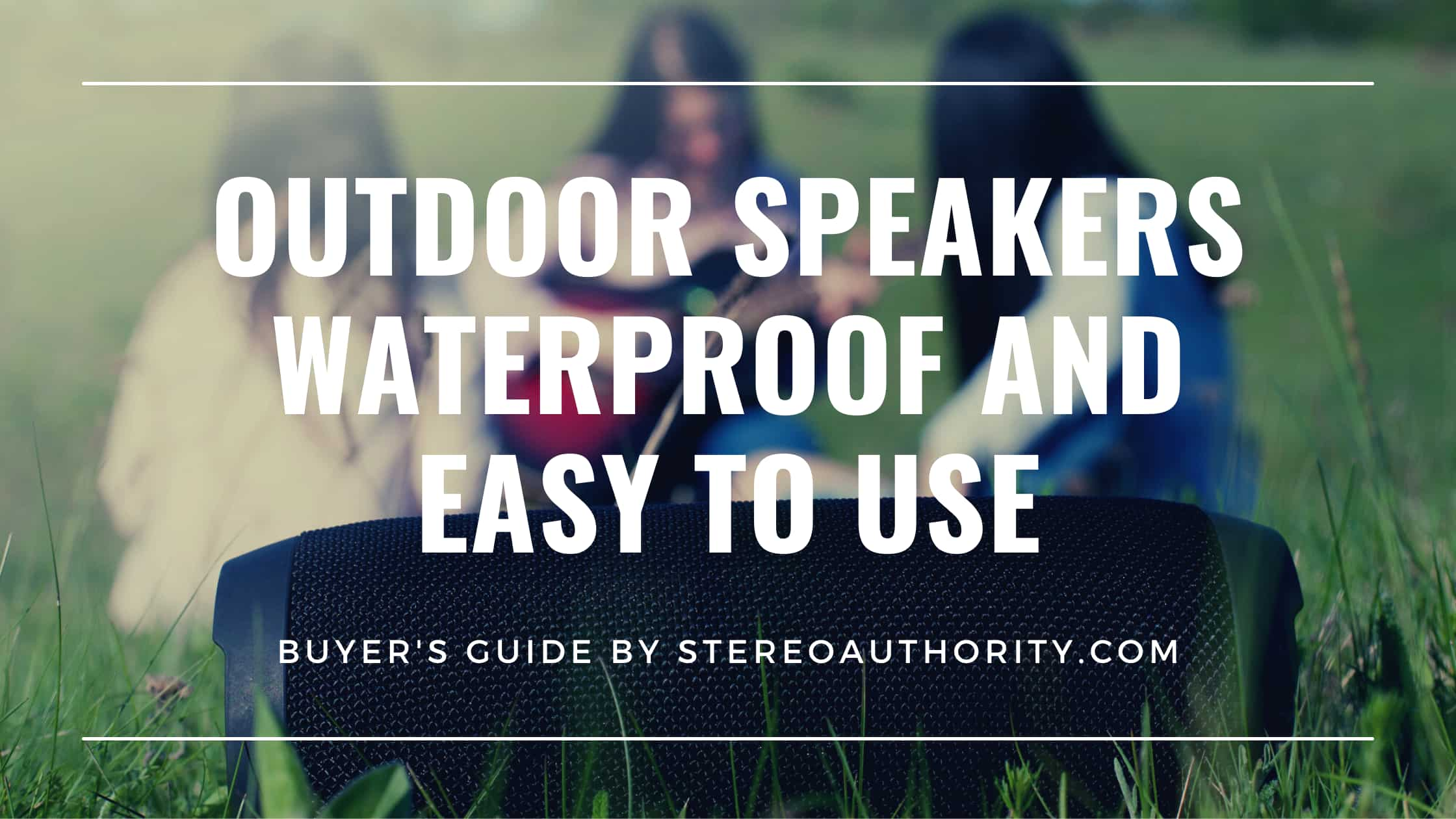 Outdoor Speakers Waterproof and Easy To Use